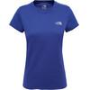 The North Face Reaxion Amp Crew Hardloopshirt korte mouwen Dames blauw